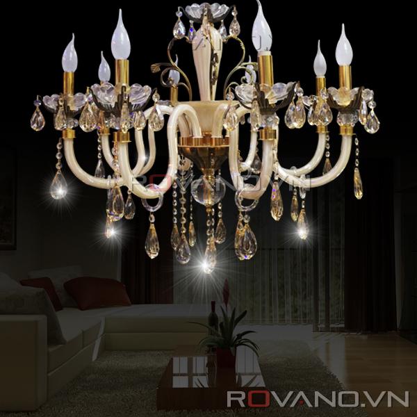 Đèn Chùm Pha Lê RCP-04151-8 giá rẻ chỉ có tại Rovano Việt Nam